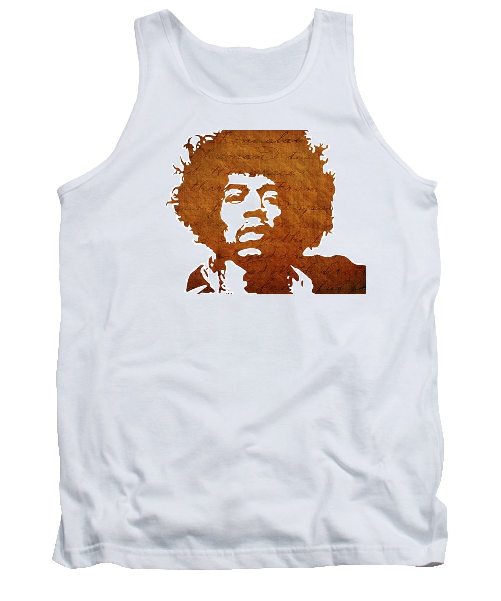 Famous Tank Top featuring the digital art Jimi Hendrix by Chris Smith