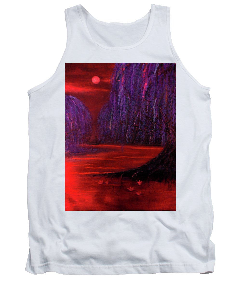 Paper Tank Top featuring the mixed media Lagoon by Emily Perry