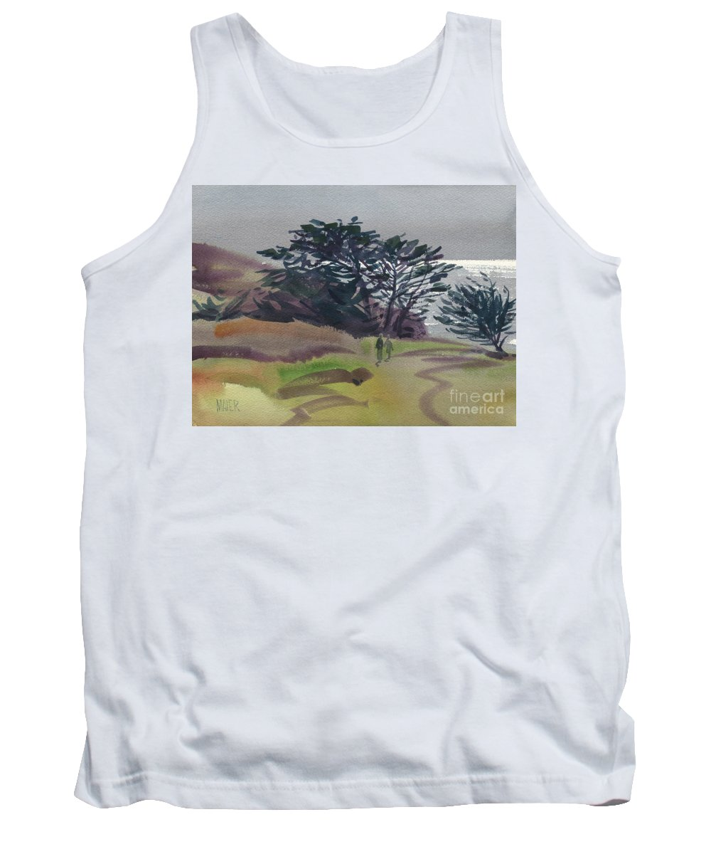 Plein Air Tank Top featuring the painting Miramonte Point 1 by Donald Maier