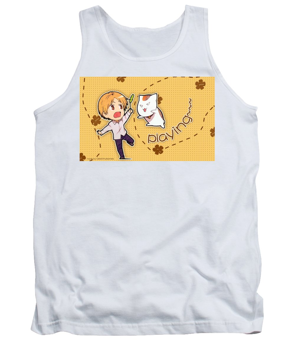 Natsume's Book Of Friends Tank Top featuring the digital art Natsume's Book Of Friends by Super Lovely