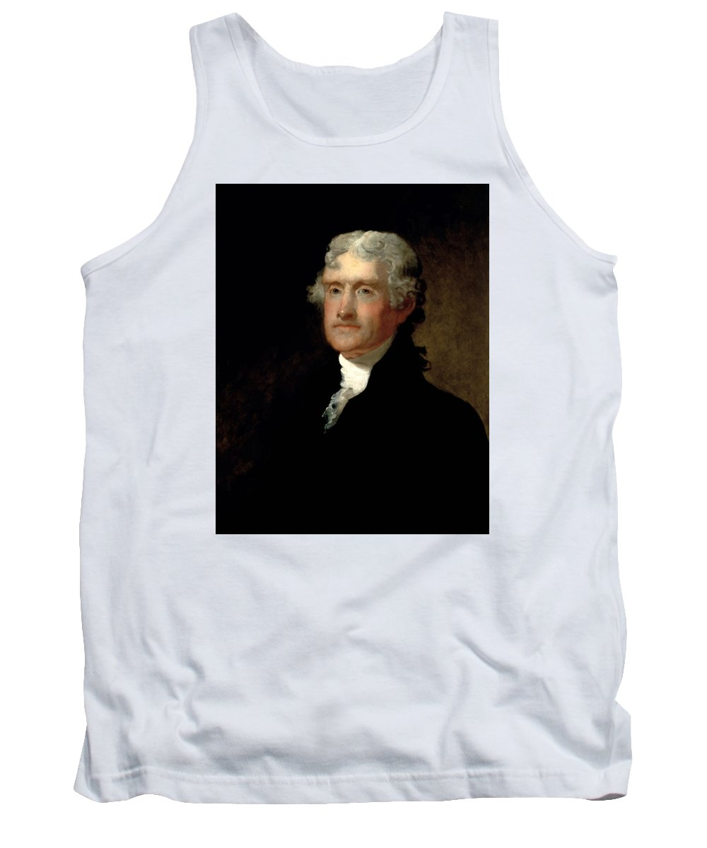 c8e003589282b Thomas Jefferson Tank Top featuring the painting President Thomas Jefferson  by War Is Hell Store