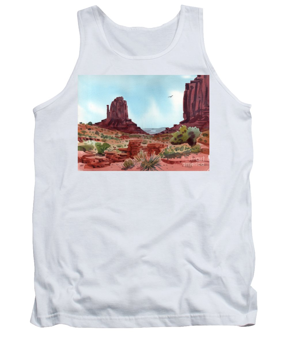 Right Mitten Tank Top featuring the painting Right Mitten by Donald Maier