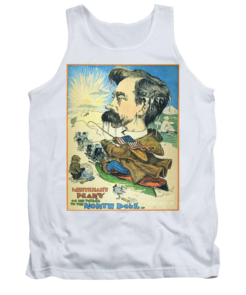 1902 Tank Top featuring the painting Robert Peary (1856-1920) by Granger