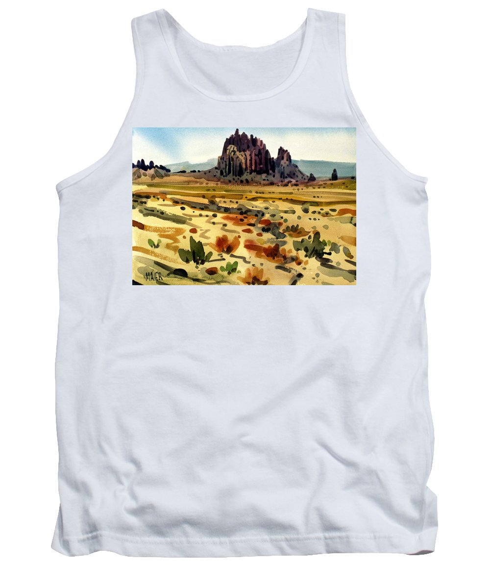 Shiprock Tank Top featuring the painting Shiprock by Donald Maier