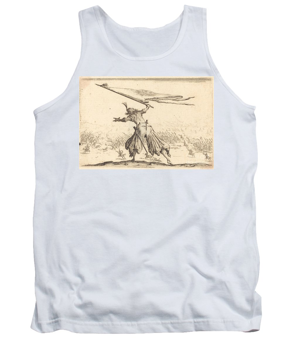 Tank Top featuring the drawing Standard Bearer by Jacques Callot