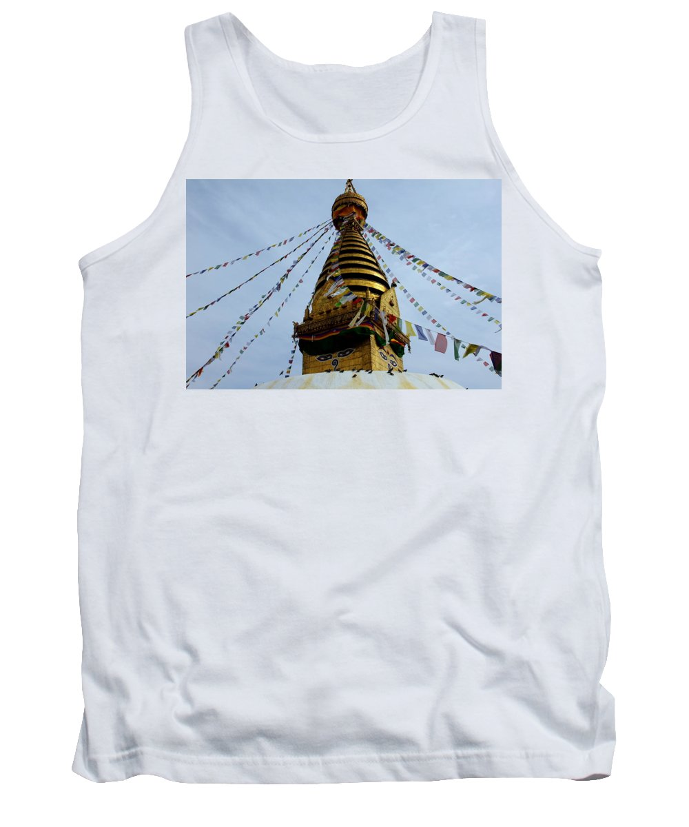 Swayambhunath Tank Top featuring the photograph Swayambhunath by Lorelle Phoenix
