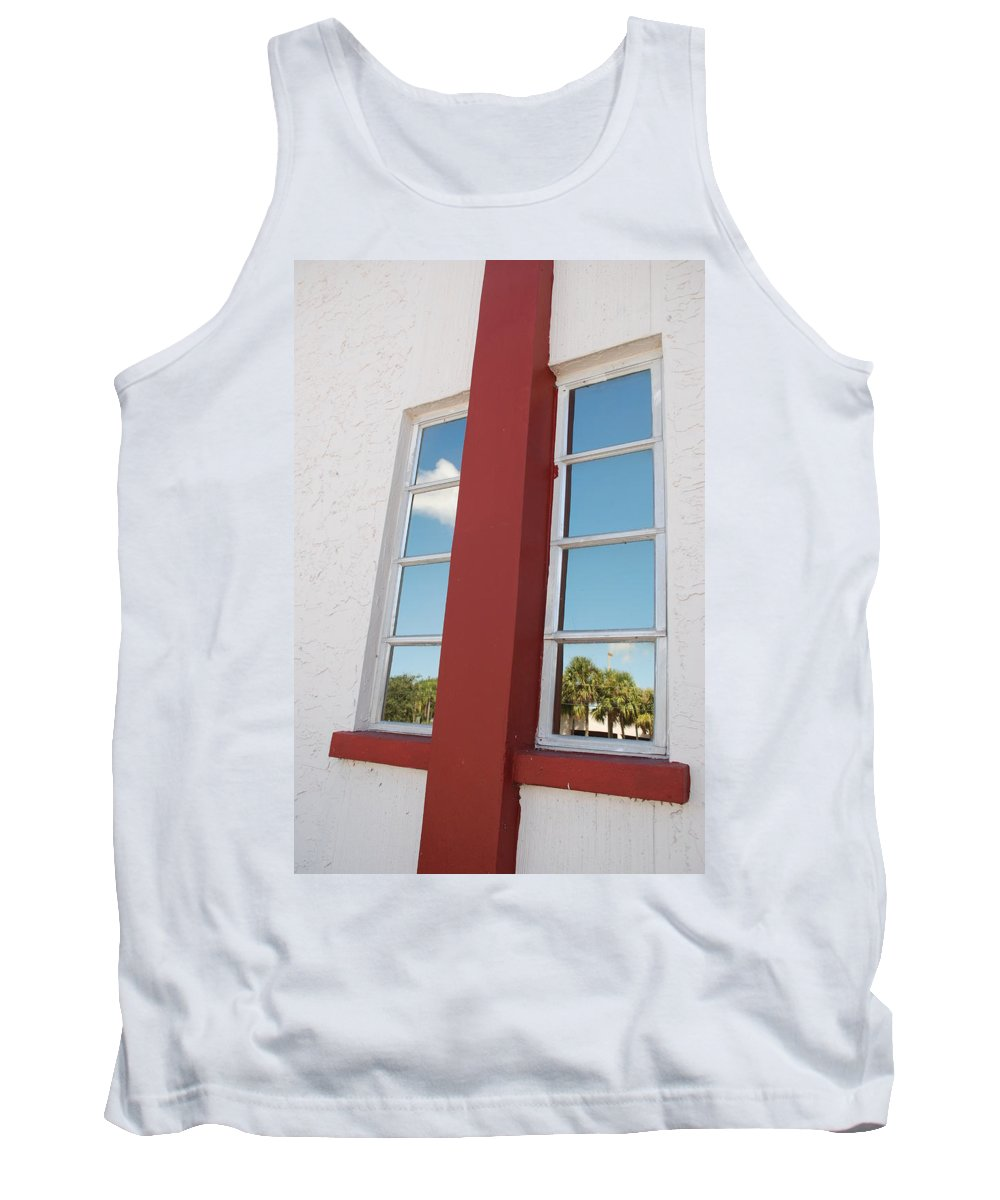 Sky Tank Top featuring the photograph Window T Glass by Rob Hans