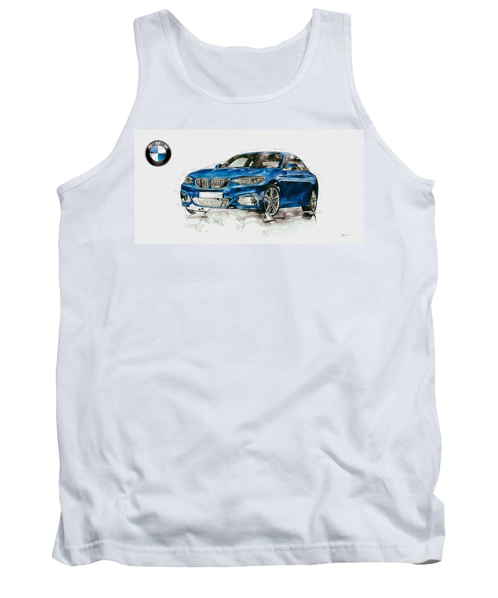 Wheels Of Fortune By Serge Averbukh Tank Top featuring the photograph 2014 B M W 2 Series Coupe With 3d Badge by Serge Averbukh
