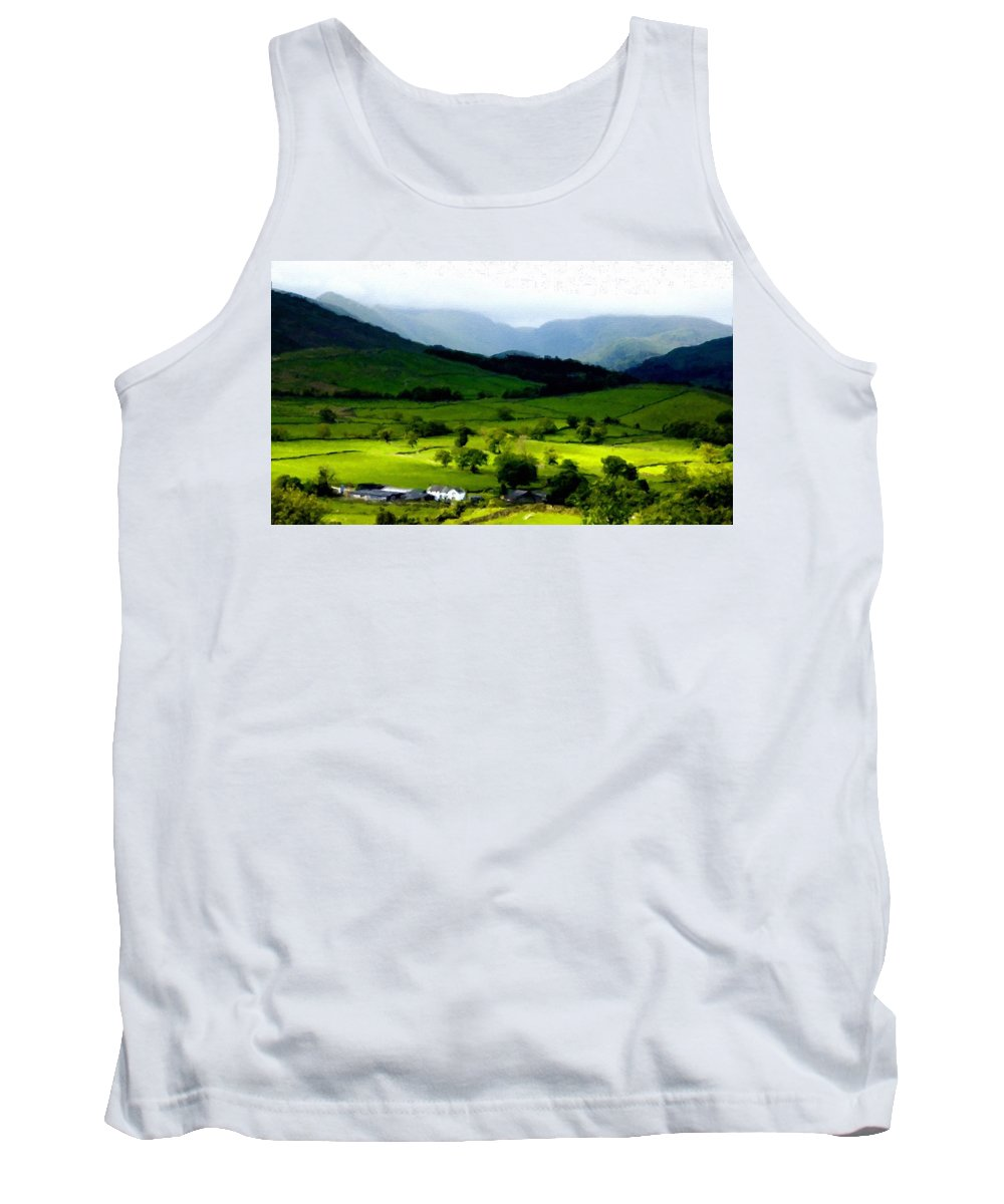 Nurture Tank Top featuring the digital art Show Landscape by Usa Map