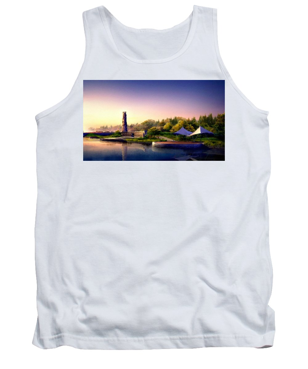 M Tank Top featuring the digital art Landscape R Us by Usa Map