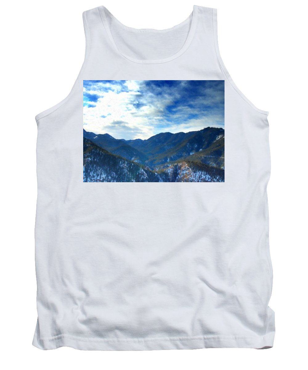Landscape Tank Top featuring the digital art Lake Landscape by Usa Map
