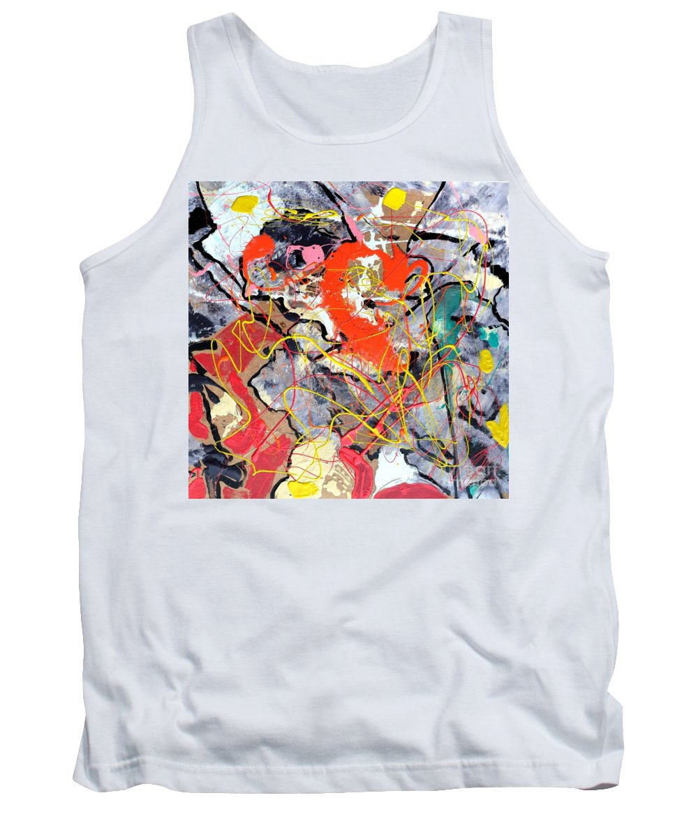 Abstract Tank Top featuring the painting Challenge 2017 - End World Hunger Art To Raise Awareness by Grace Divine
