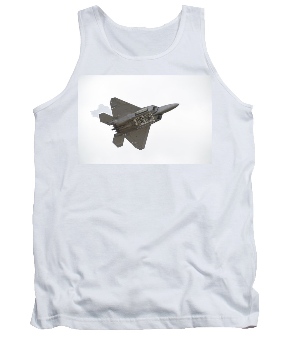 Airplane Tank Top featuring the photograph F-22 Raptor by Sebastian Musial