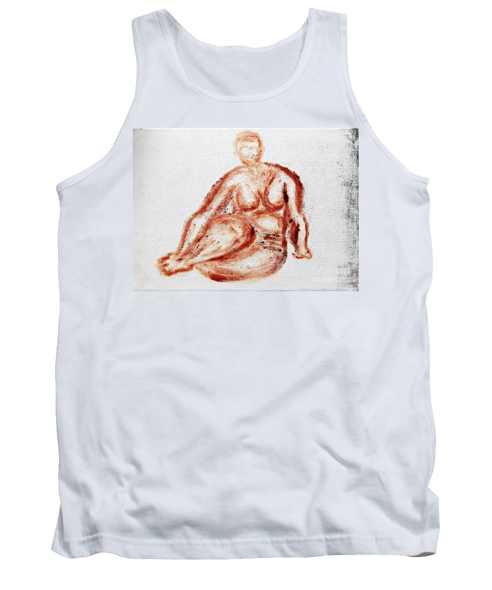 Fat Tank Top featuring the photograph Fat Nude Woman by Vladi Alon