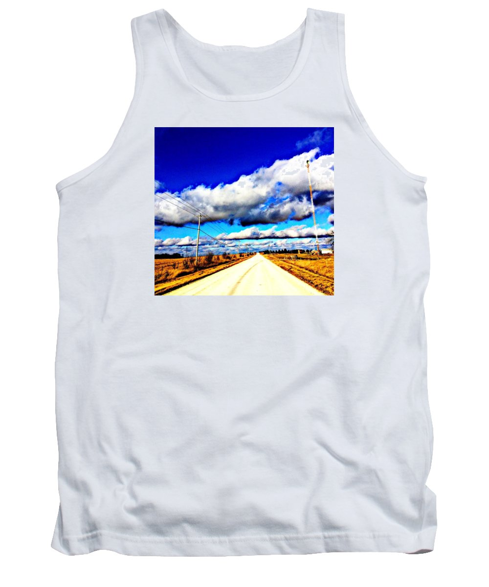 Dirt Tank Top featuring the photograph Heavenly Skies by Lori Faircloth