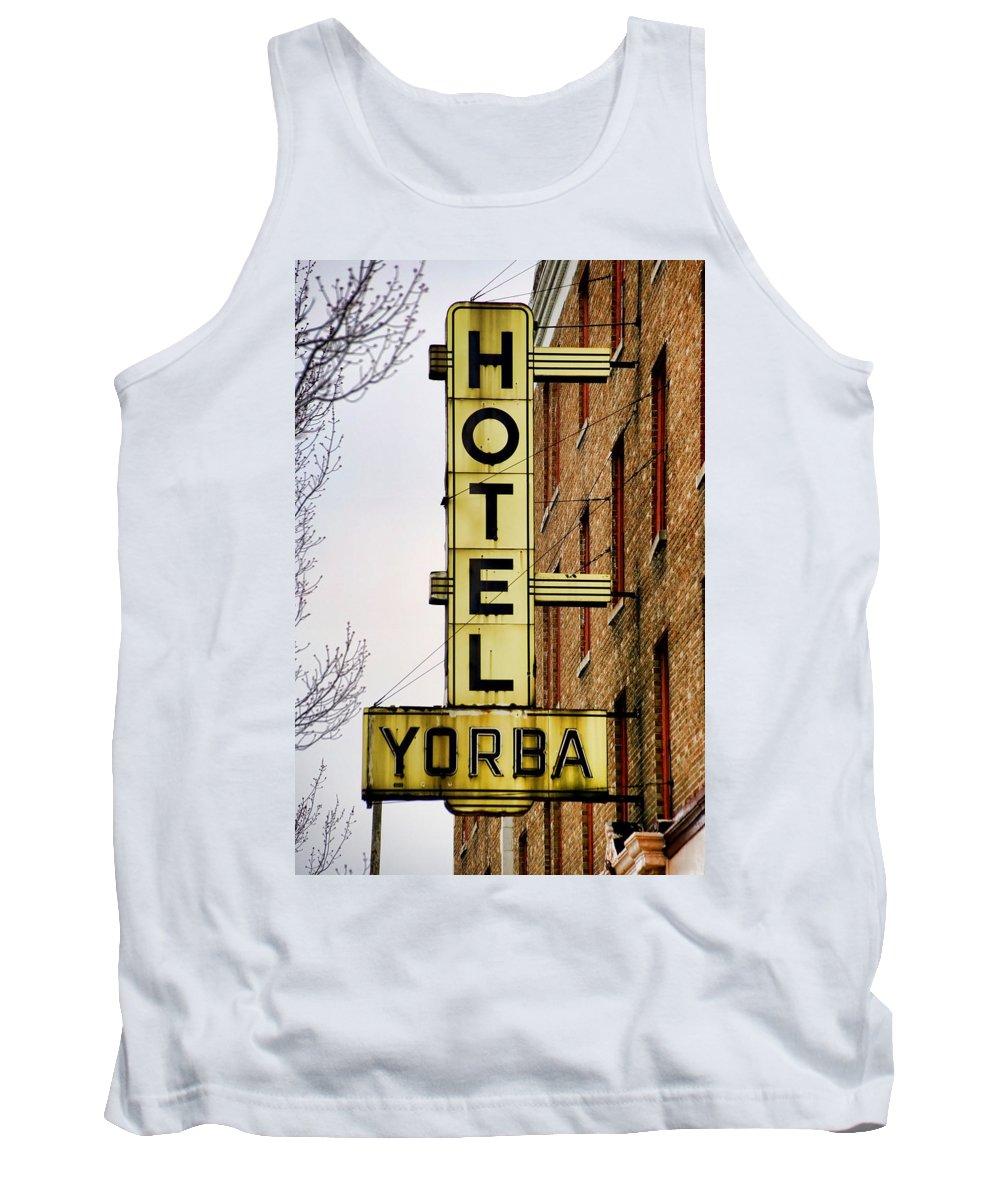 Hotel Yorba Tank Top featuring the photograph Hotel Yorba by Gordon Dean II