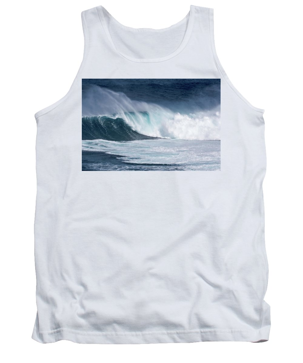 Jaws Tank Top featuring the photograph Jaws Wave by Robert Morris