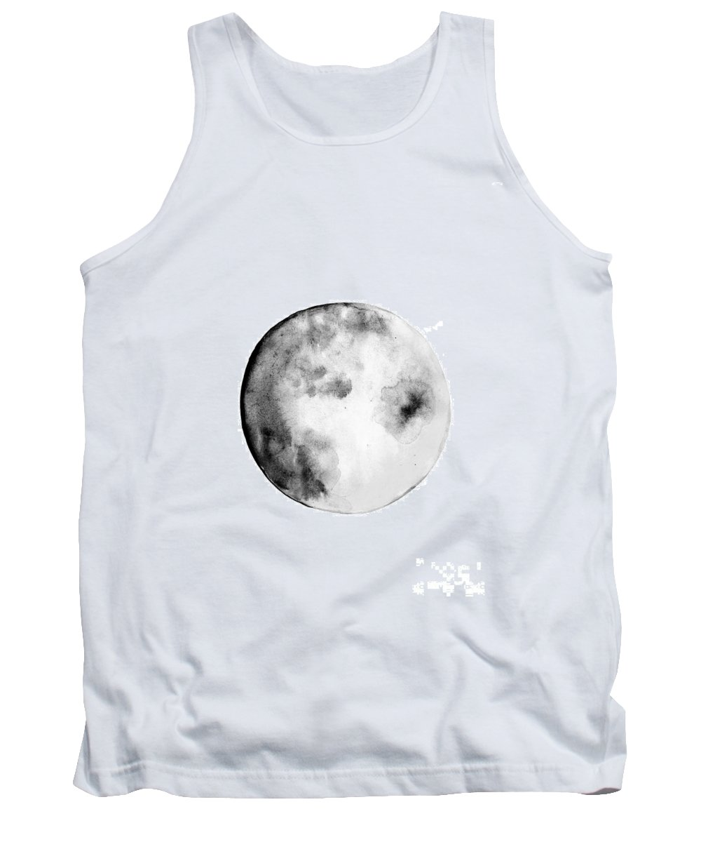 First Quarter Phase Tank Top featuring the painting Moon Phase by Sweeping Girl