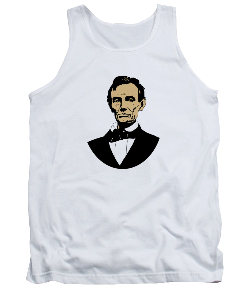 Abraham Lincoln Tank Top featuring the mixed media President Lincoln by War Is Hell Store
