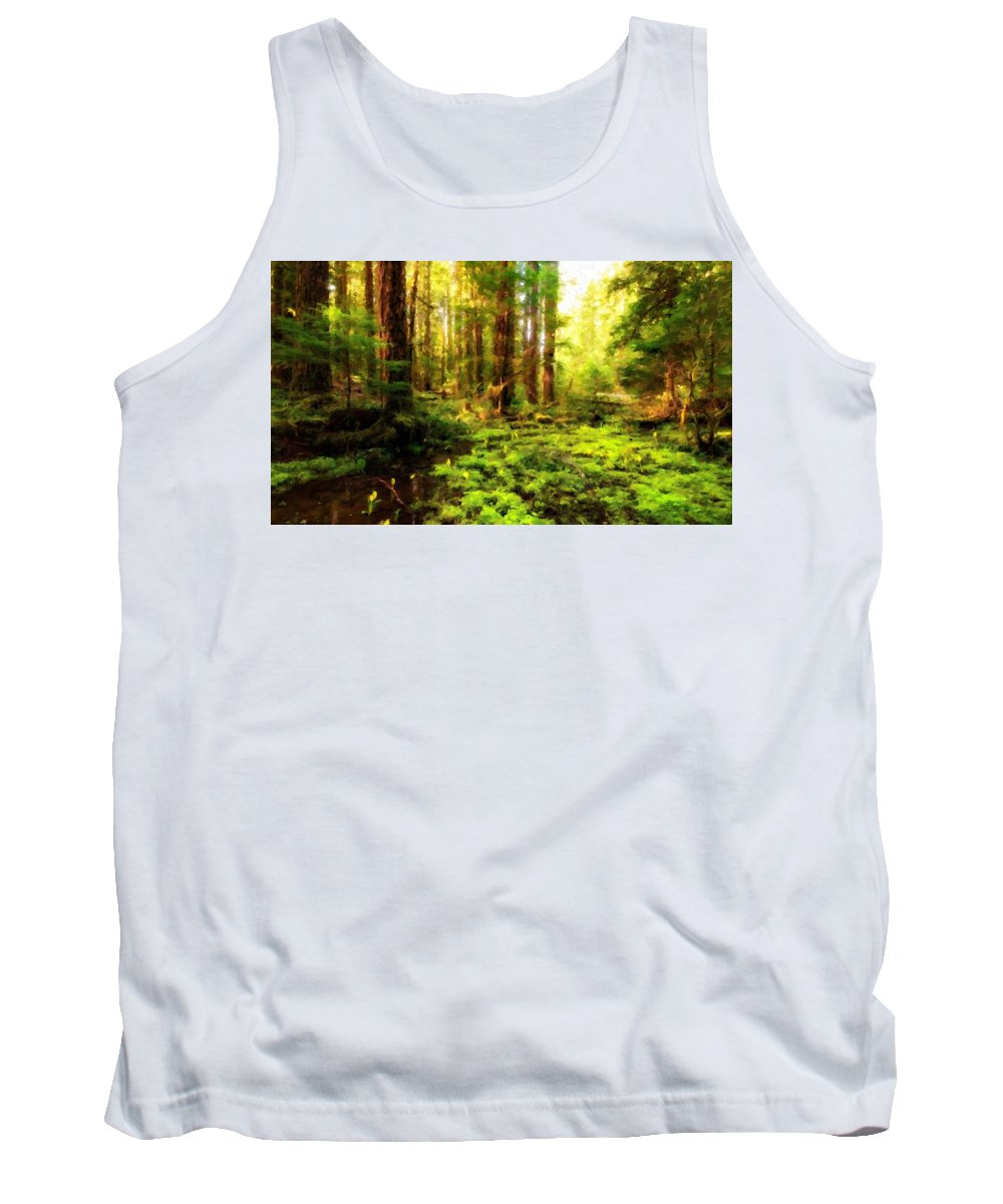 Landscape Tank Top featuring the digital art G H Landscape by Usa Map