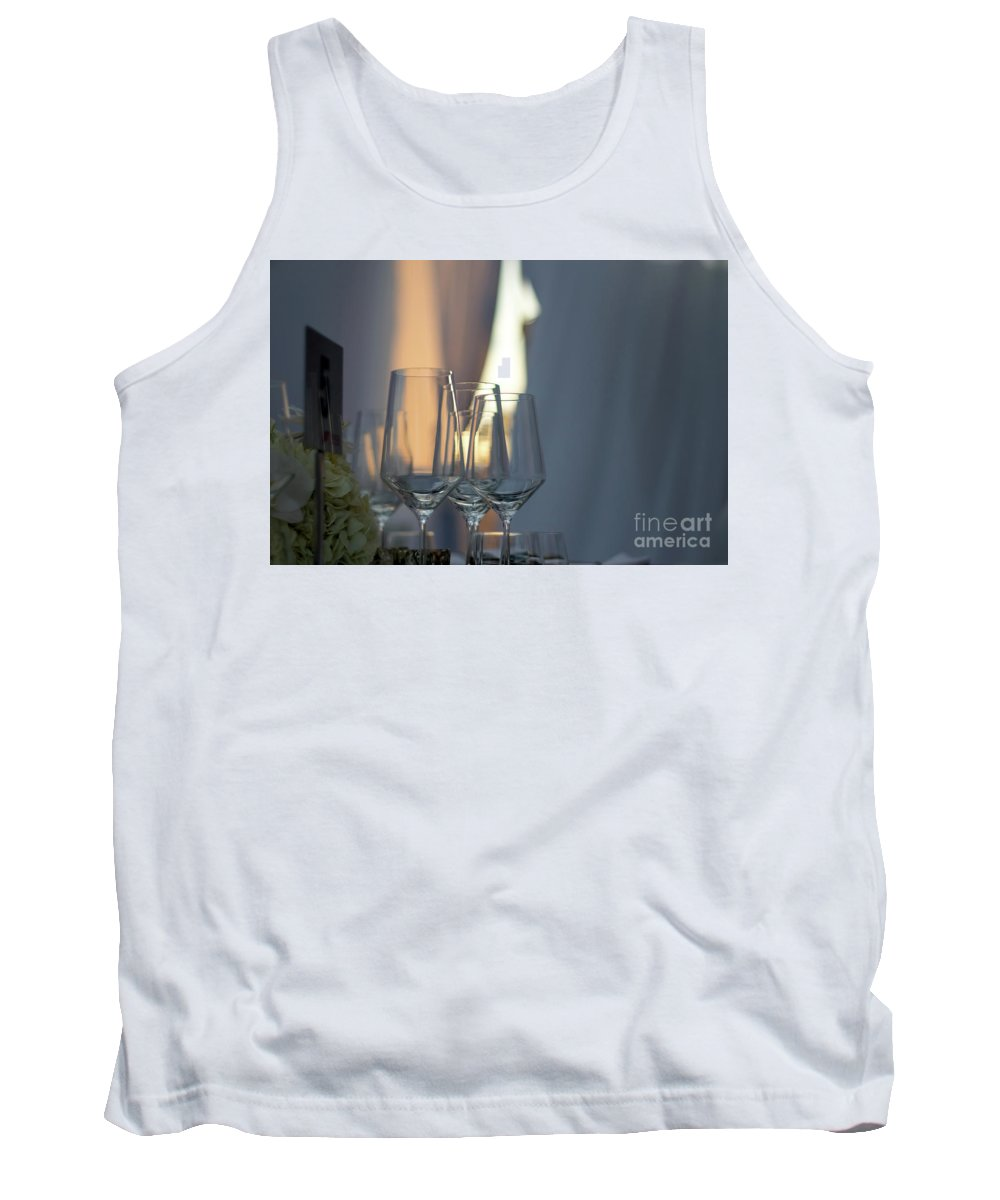 Abstract Tank Top featuring the photograph Party Setting With Bokeh Background by Eiko Tsuchiya