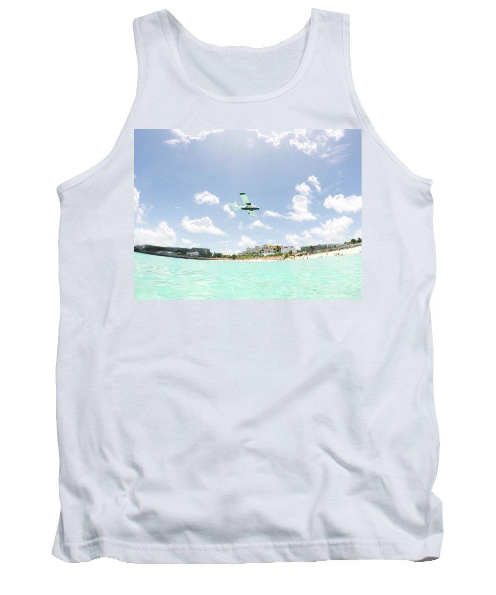 St. Marrten Tank Top featuring the photograph St. Marrten Caribbean Island by Nicole Badger