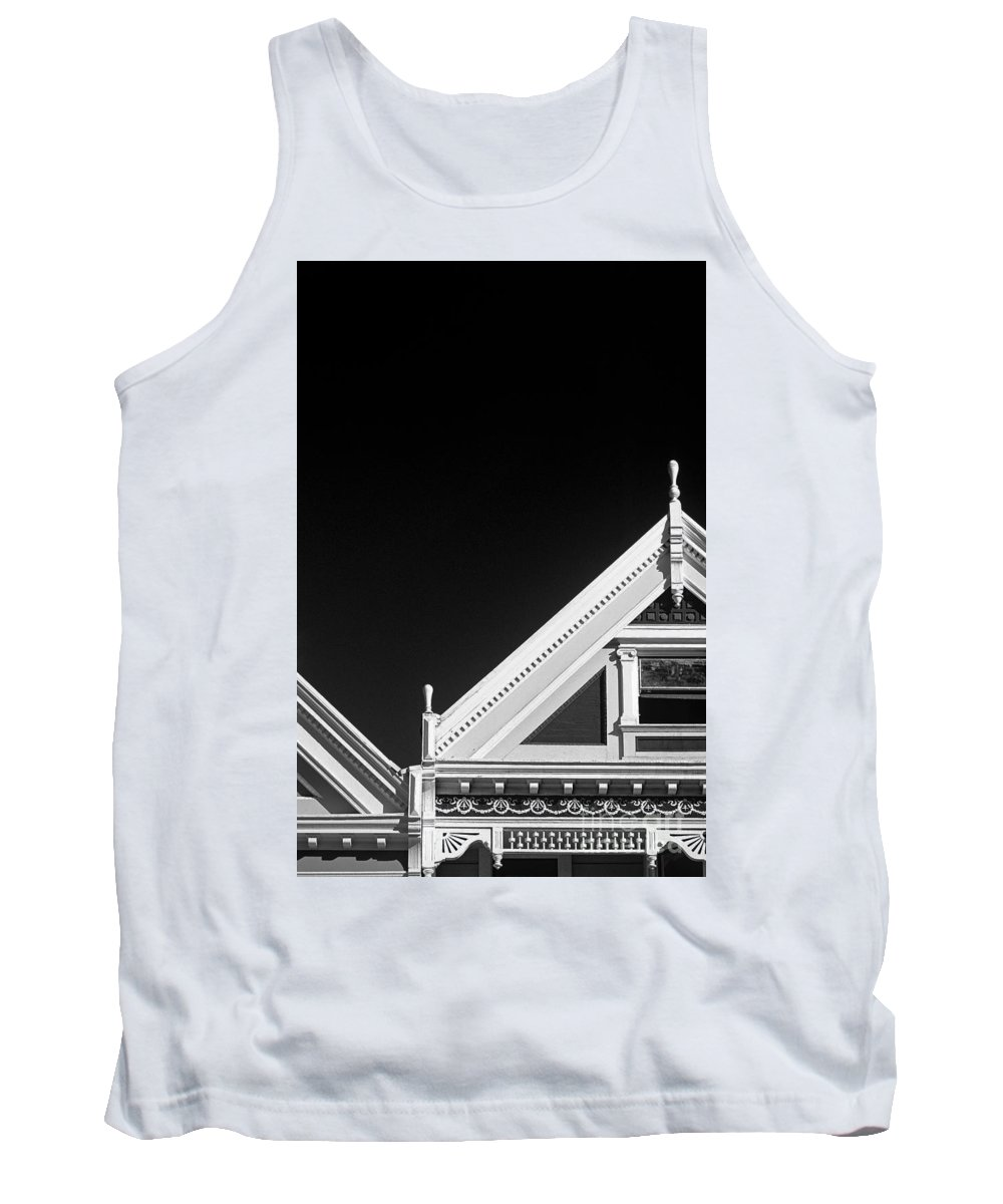 Travel Tank Top featuring the photograph Victorian Style Homes by Jim Corwin