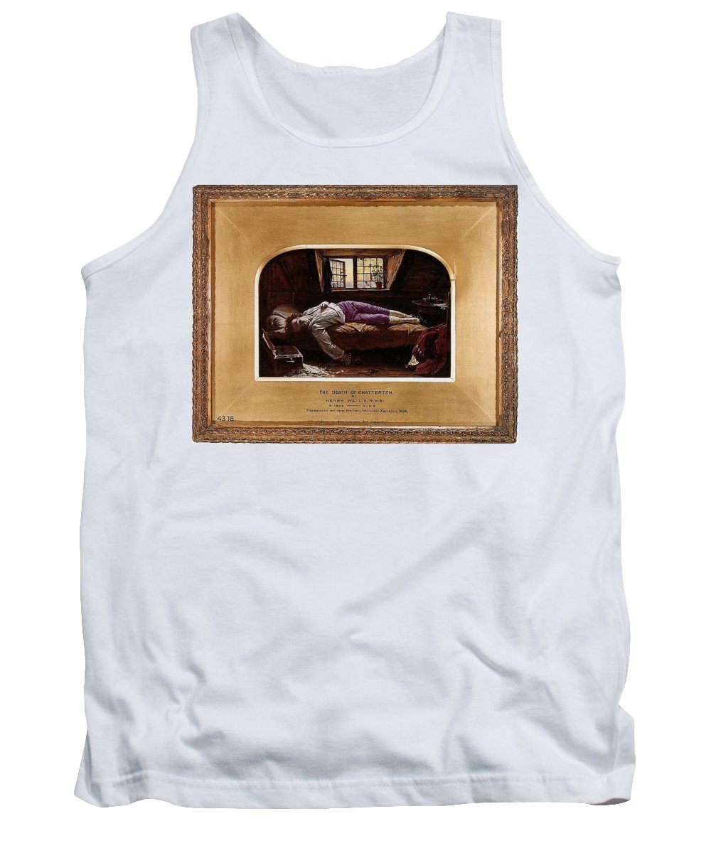 Vintage Tank Top featuring the digital art Wallis Henry The Death Of Chatterton2 Henry Wallis by Eloisa Mannion