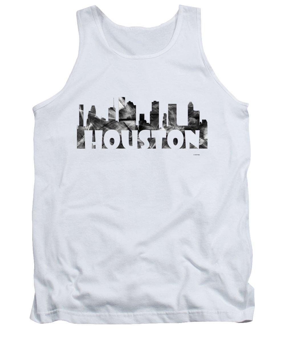 Houston Texas Skyline Tank Top featuring the digital art Houston Texas Skyline by Marlene Watson