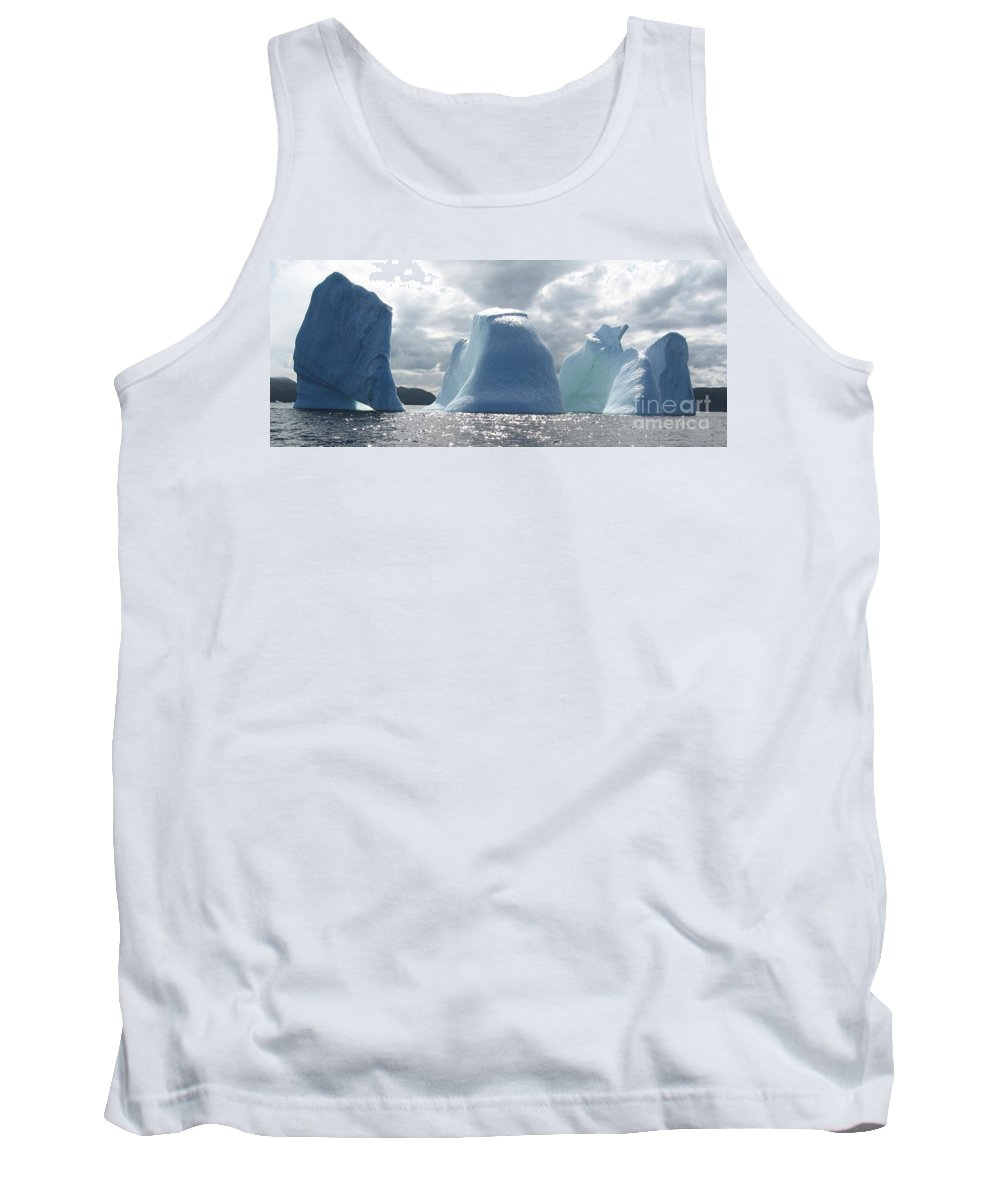 Iceberg Photograph Ice Water Ocean Altantic Newfoundland Summer Tank Top featuring the photograph Iceberg by Seon-Jeong Kim