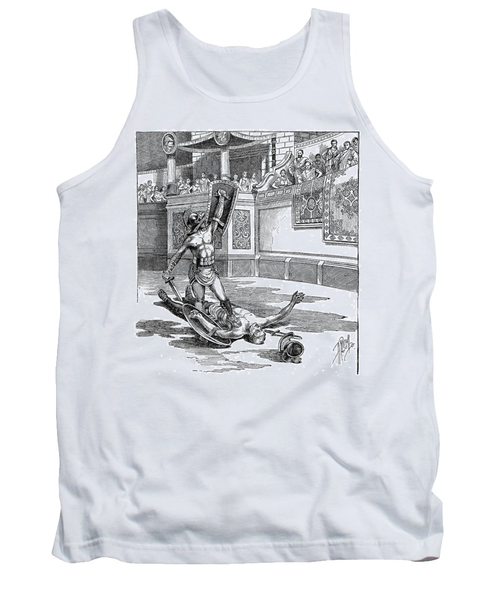 Ancient Tank Top featuring the photograph Roman Gladiators by Granger