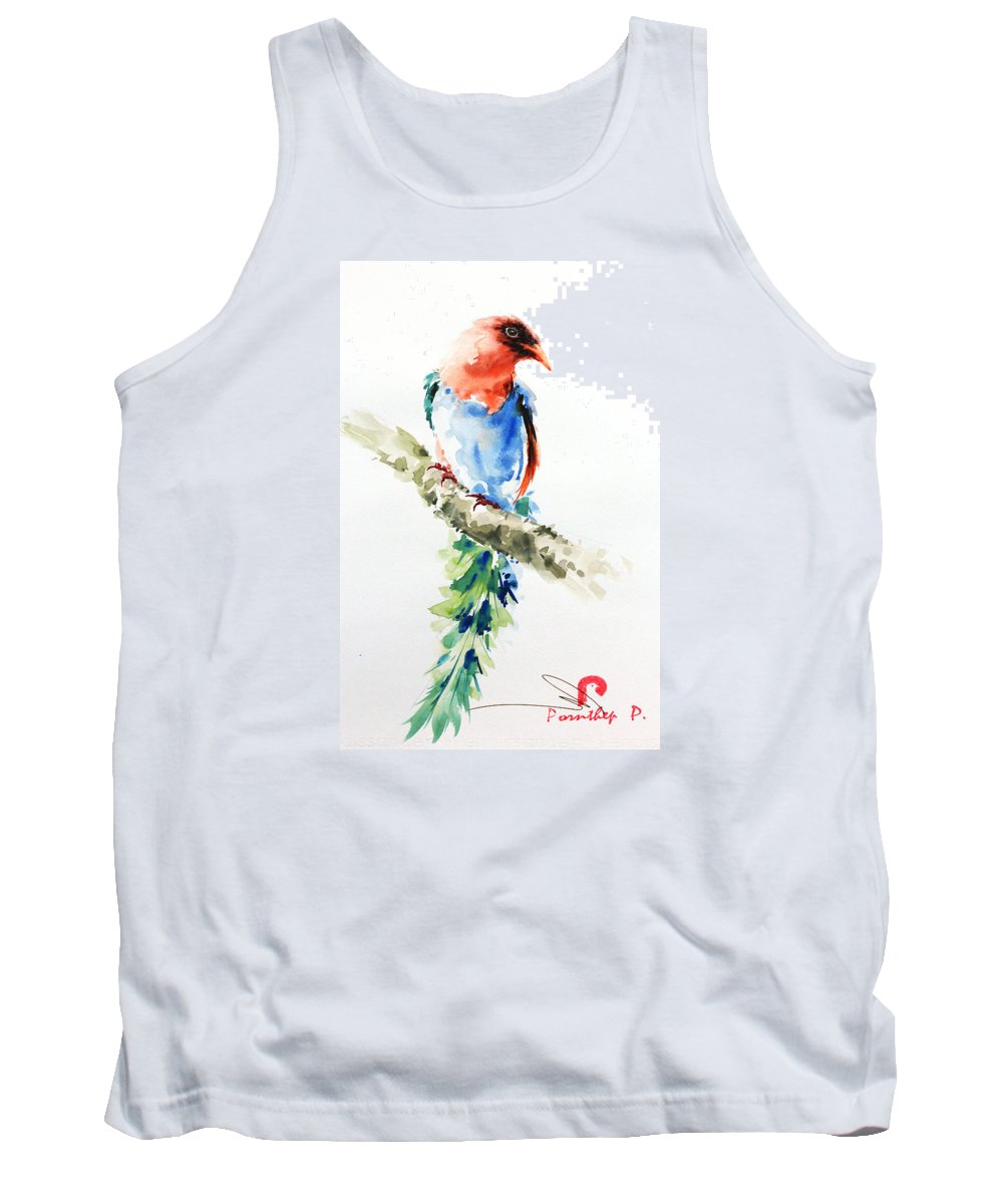 Bird Lover Tank Top featuring the painting Wild Bird 5 by Pornthep Piriyasoranant