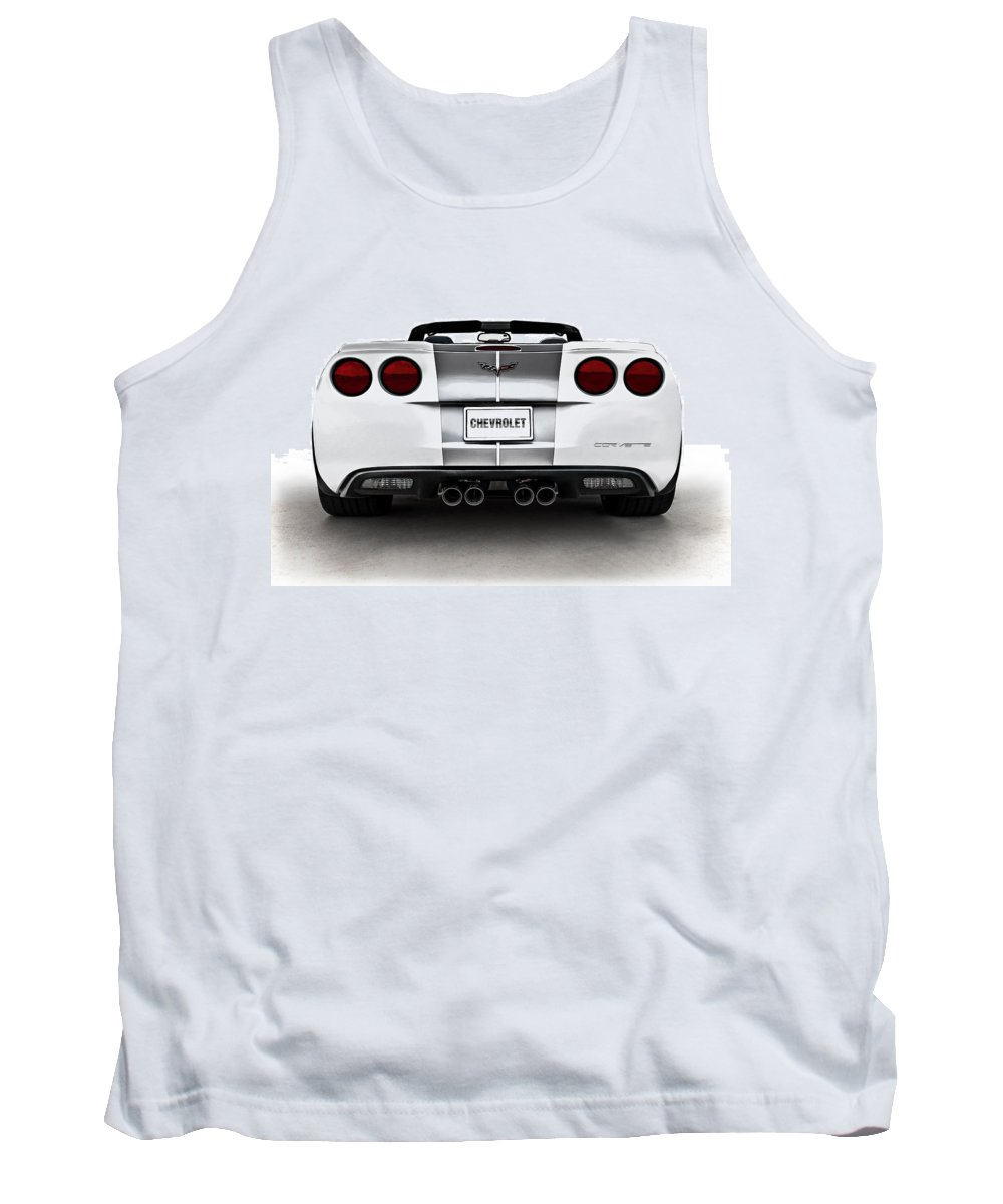Anniversary Tank Top featuring the digital art 60th Anniversary Corvette by Douglas Pittman