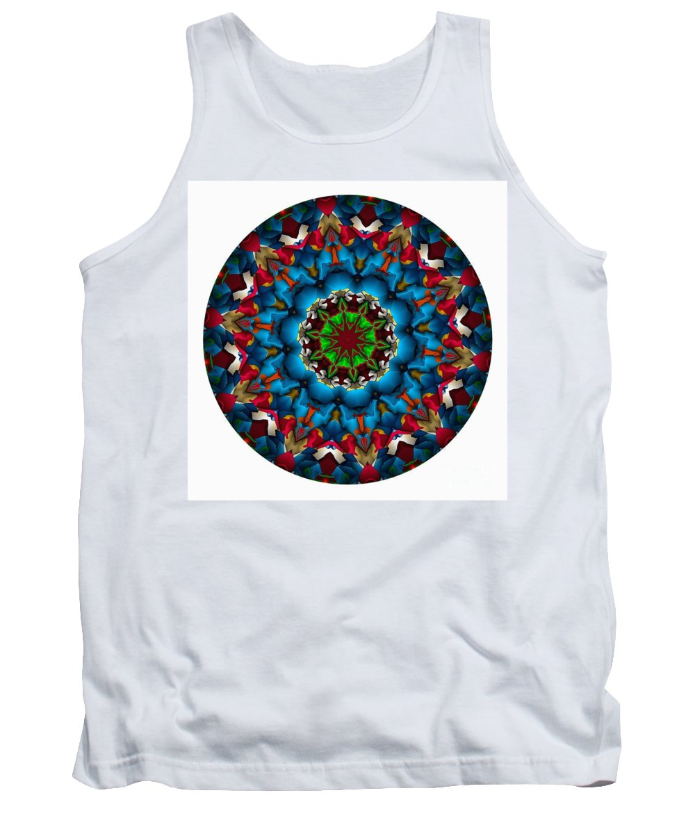 Talisman Tank Top featuring the digital art 823-04-2015 Talisman by Marek Lutek