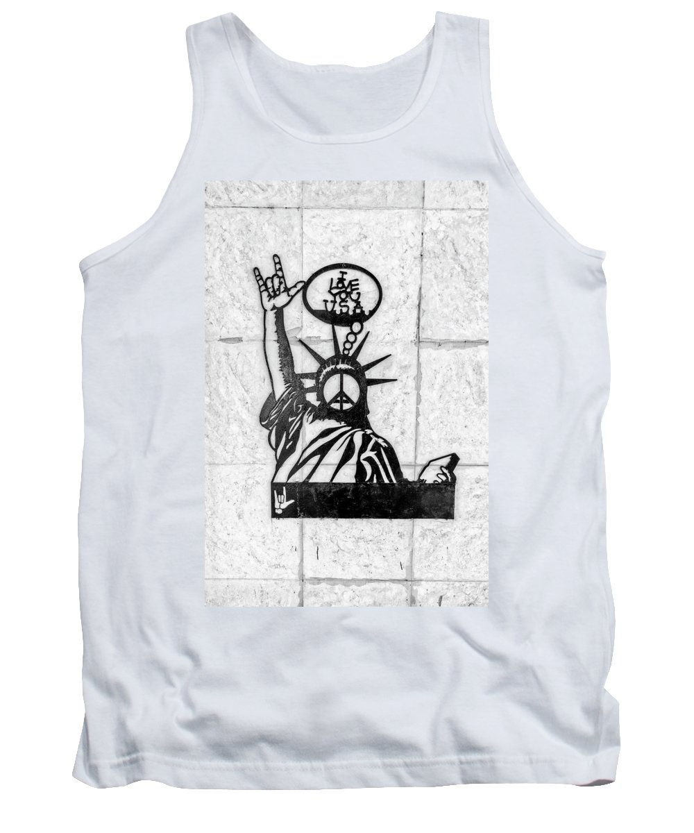 Florida Tank Top featuring the photograph 8423- Little Havana Sign by David Lange