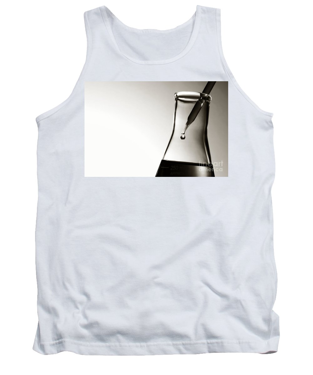 Chemical Tank Top featuring the photograph Laboratory Experiment In Science Research Lab by Olivier Le Queinec