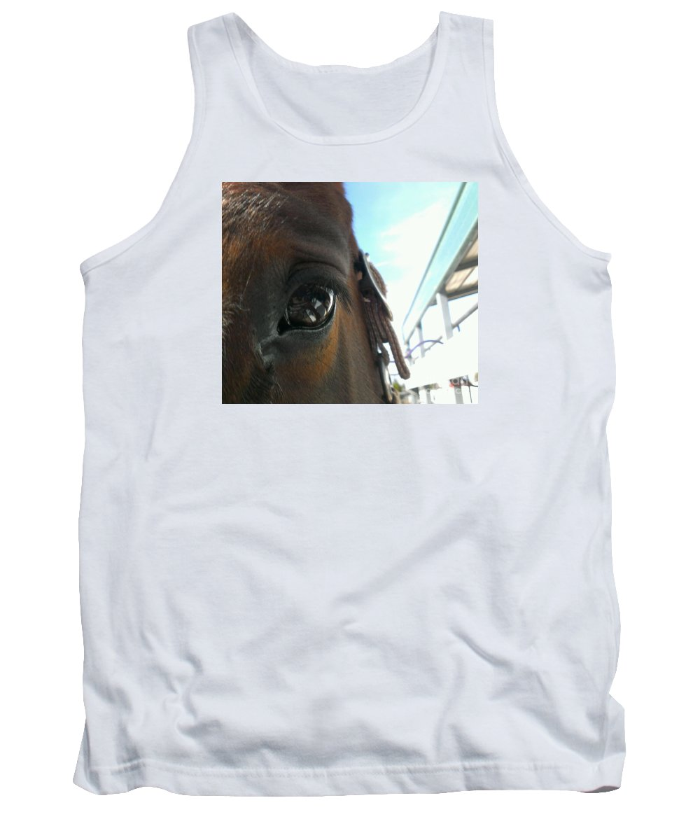 Horses Tank Top featuring the photograph A Bay View by LKB Art and Photography