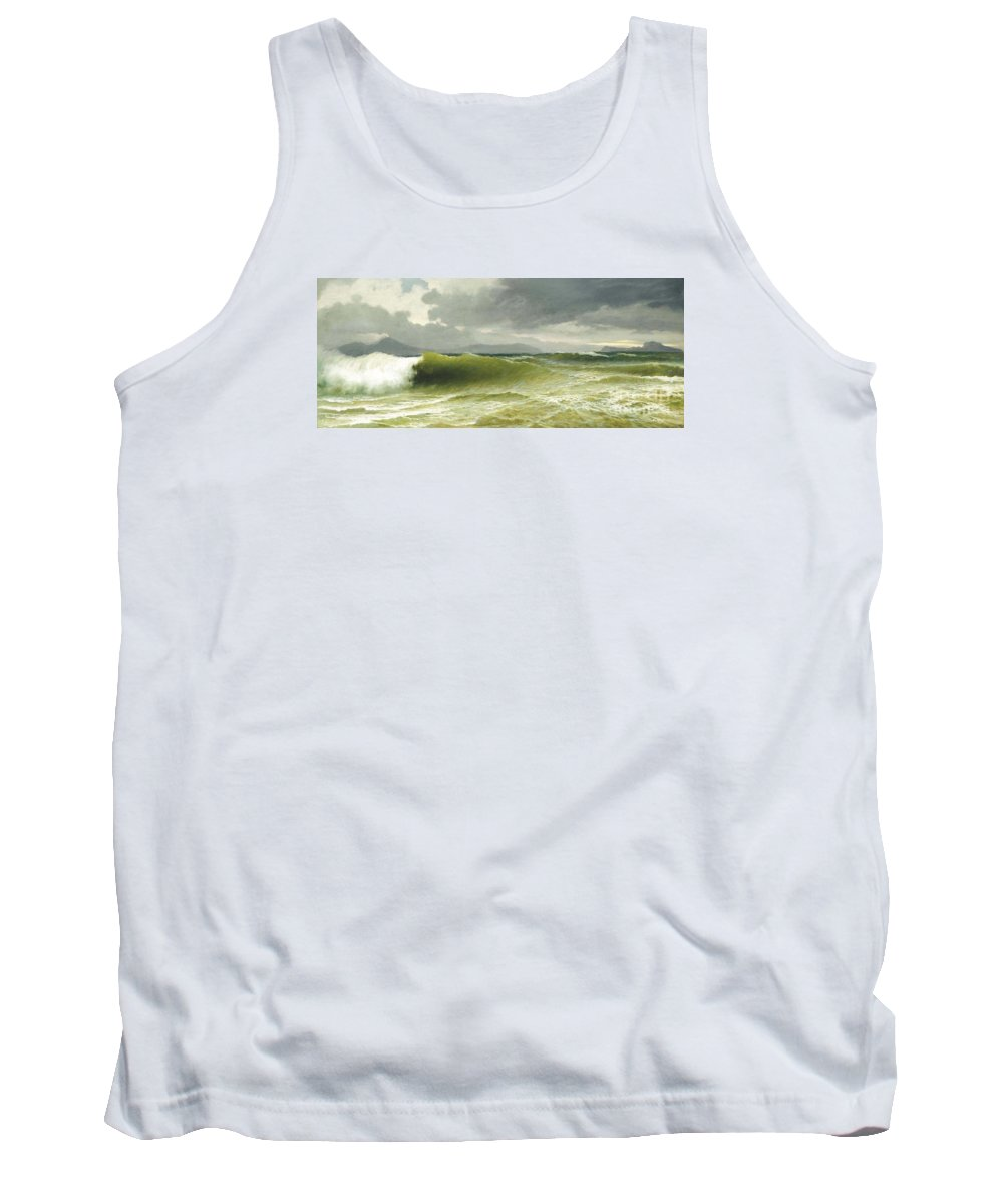 David James (1853-1904)  A Break In The Clouds Tank Top featuring the painting A Break In The Clouds by Celestial Images
