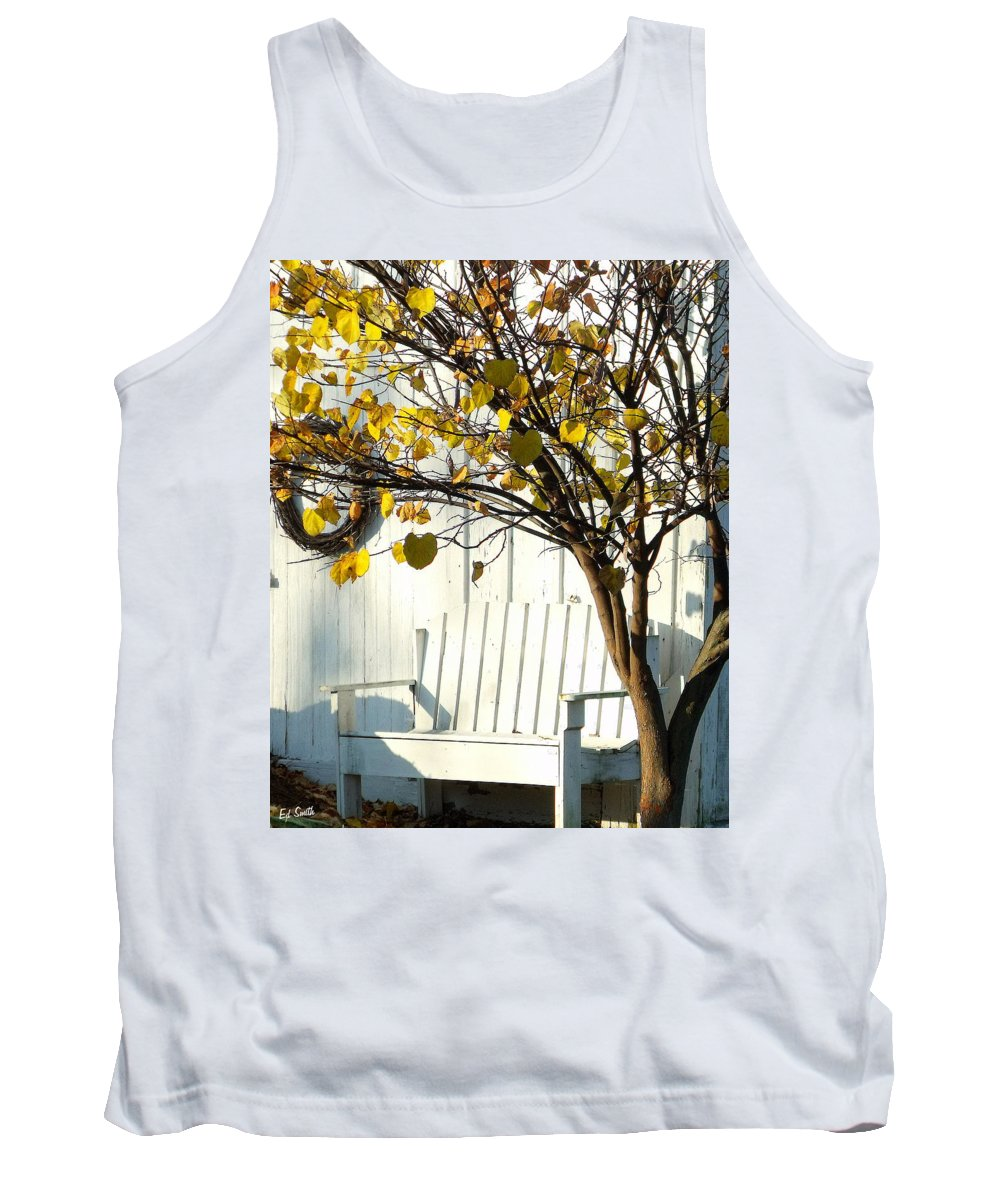 Cozy Tank Top featuring the photograph A Cozy Corner by Ed Smith