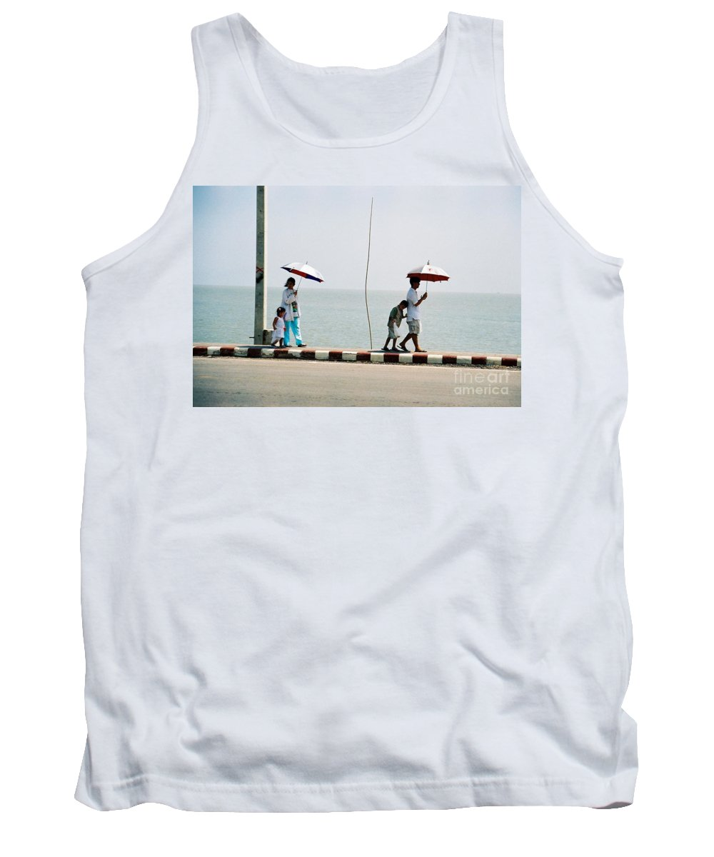 Landscape Tank Top featuring the photograph A Day By The Sea by Mary Rogers