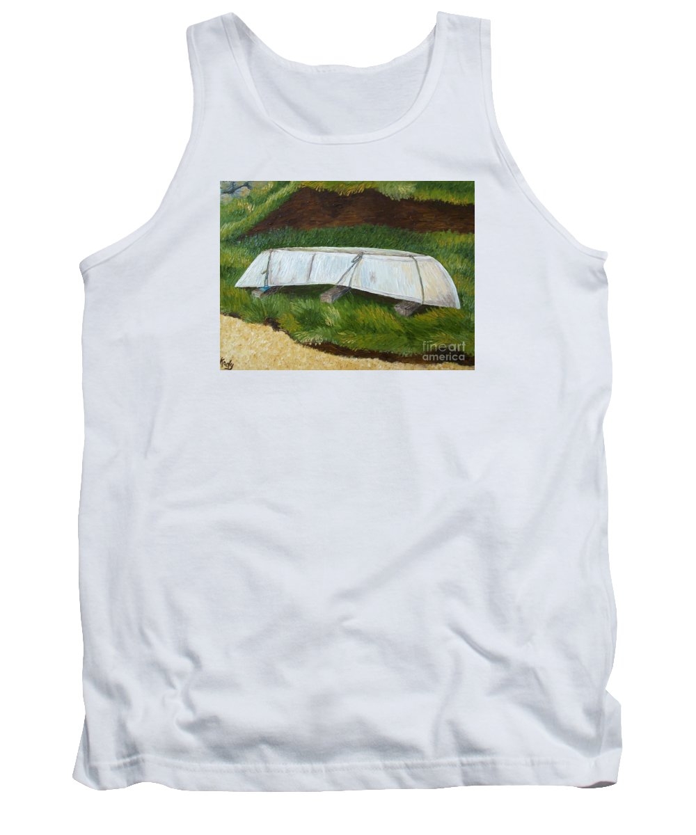 Boat Tank Top featuring the photograph A Day Off In Dingle by Karen Desrosiers