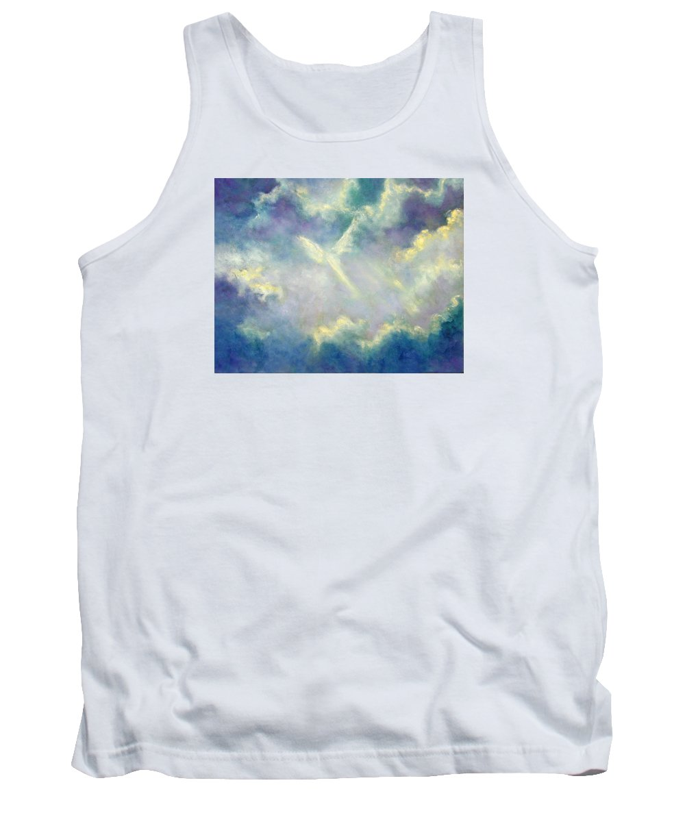 Angel Tank Top featuring the painting A Gift From Heaven by Marina Petro