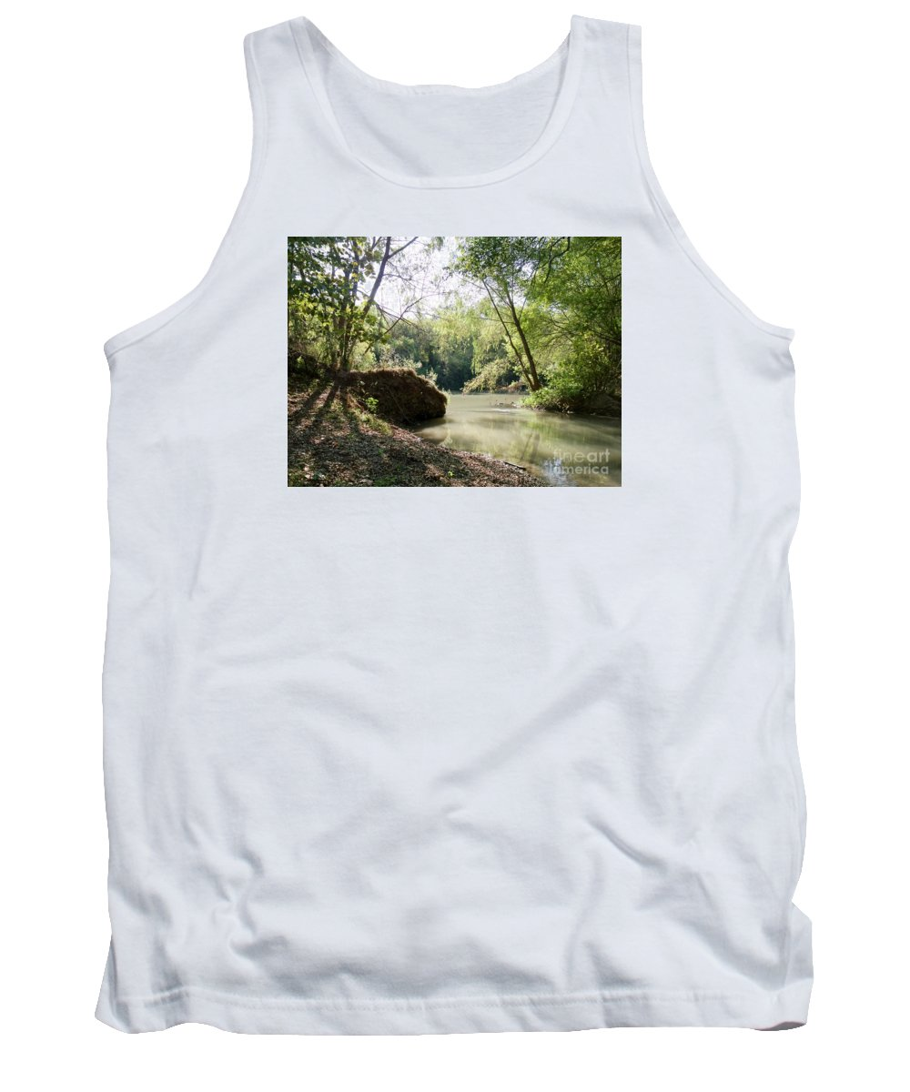 Medina River Tank Top featuring the photograph A Medina River Morning by Gary Richards