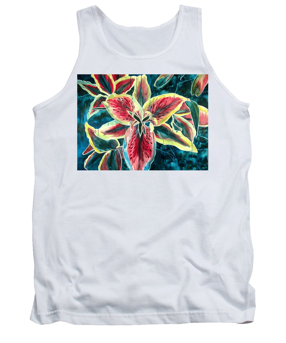 Floral Painting Tank Top featuring the painting A New Day by Jennifer McDuffie