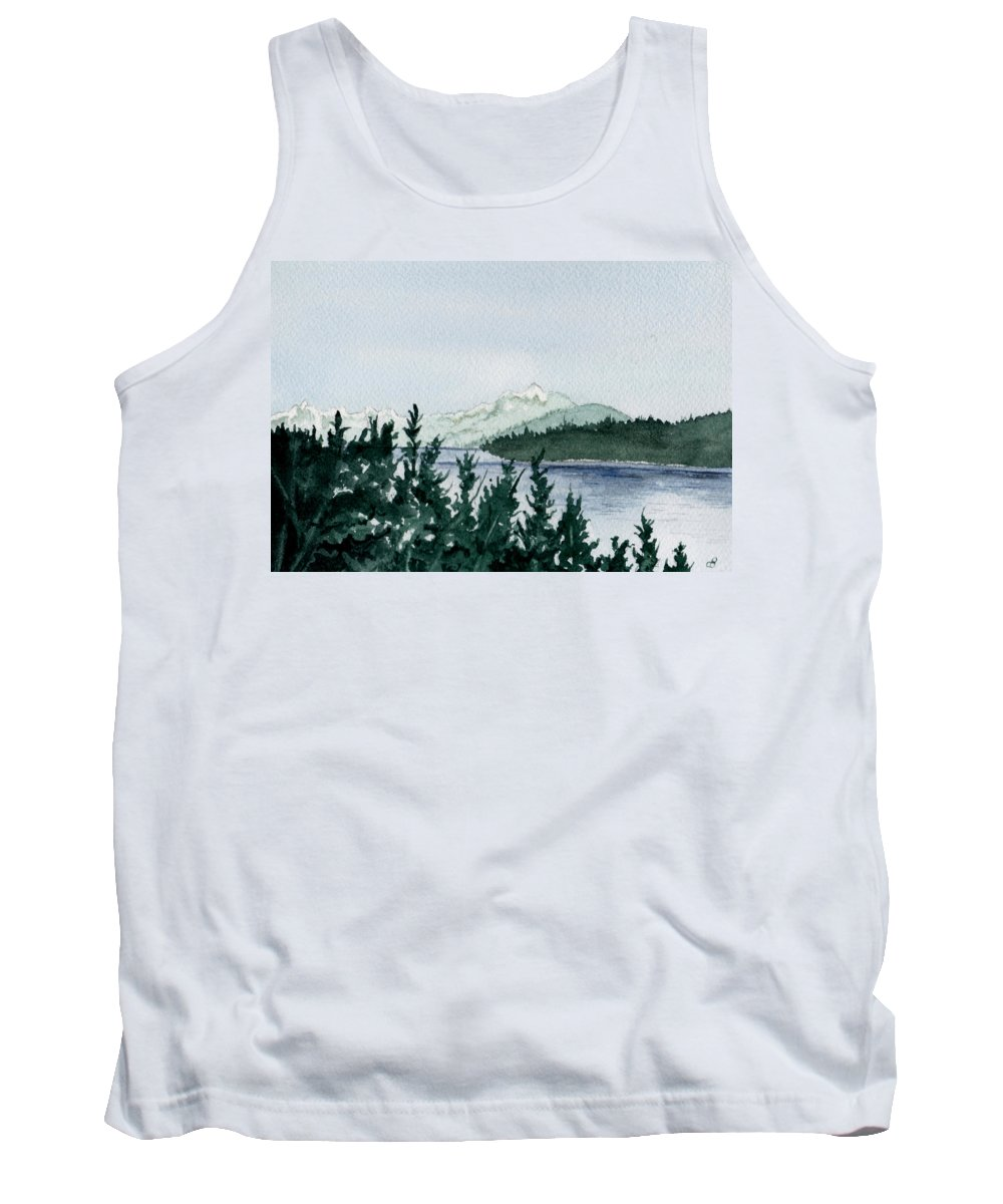 Landscape Tank Top featuring the painting A Peaceful Place by Brenda Owen