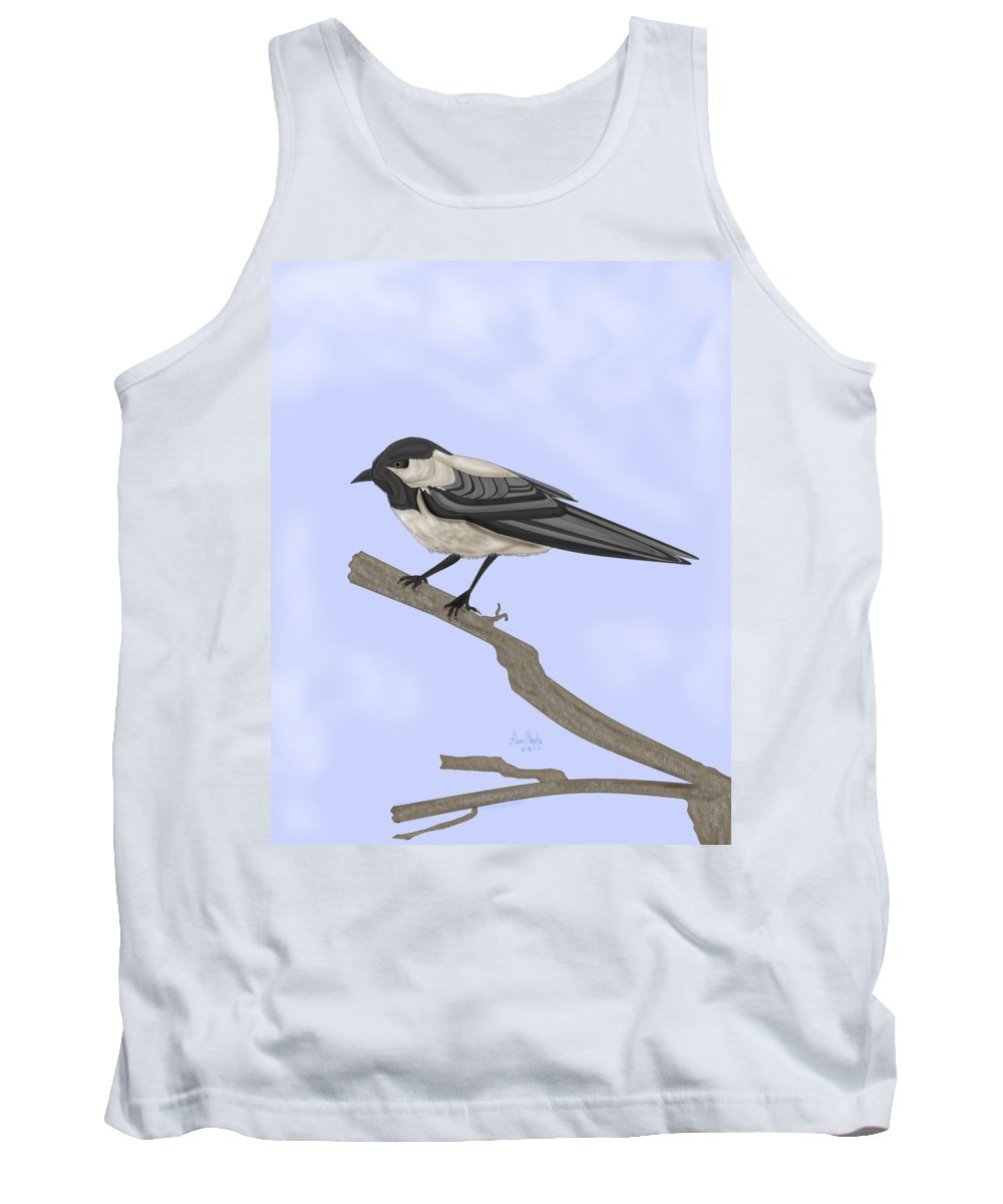 Bird Tank Top featuring the painting A Small Guest by Anne Norskog