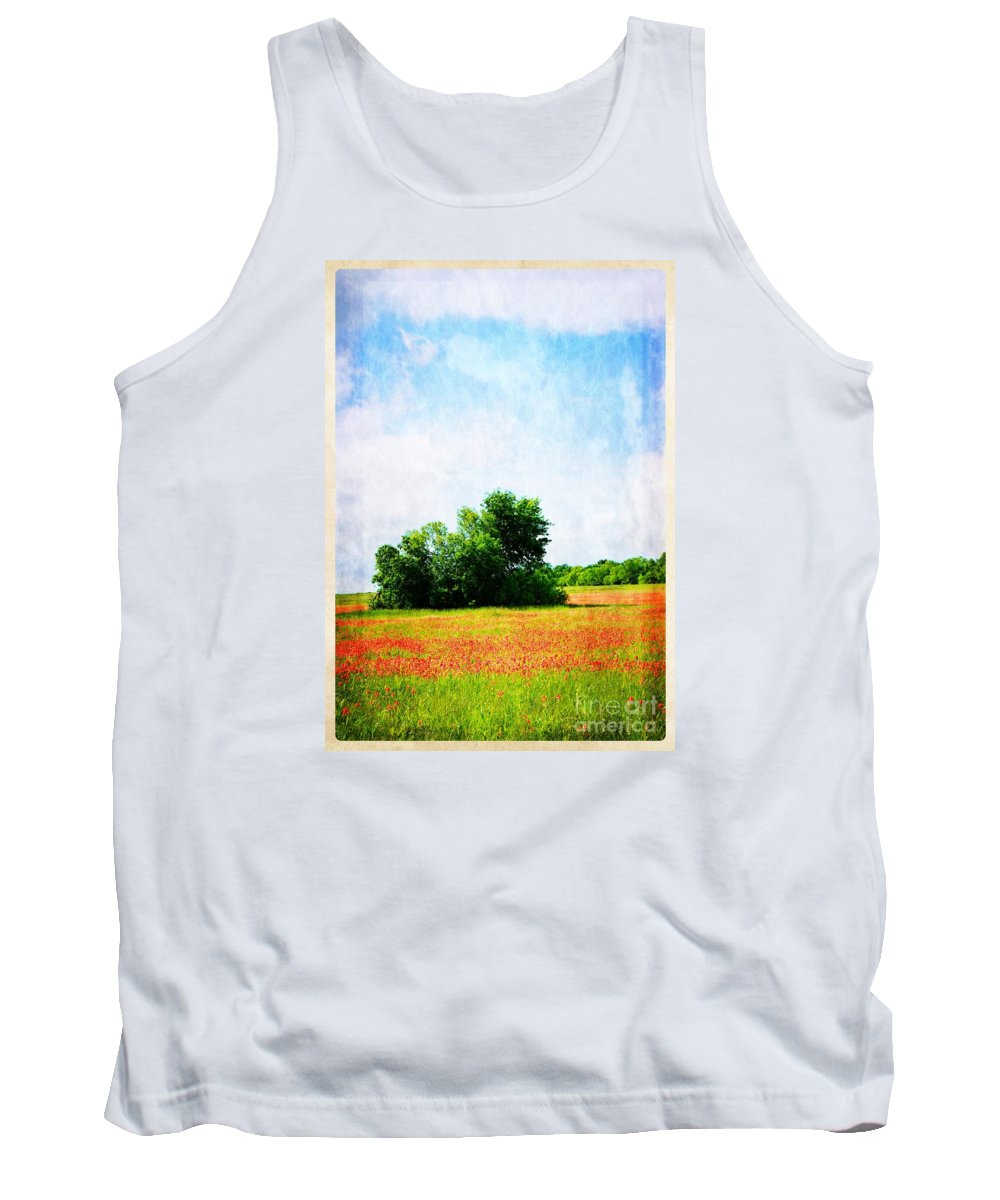 Spring Tank Top featuring the photograph A Spring Day In Texas by Gary Richards