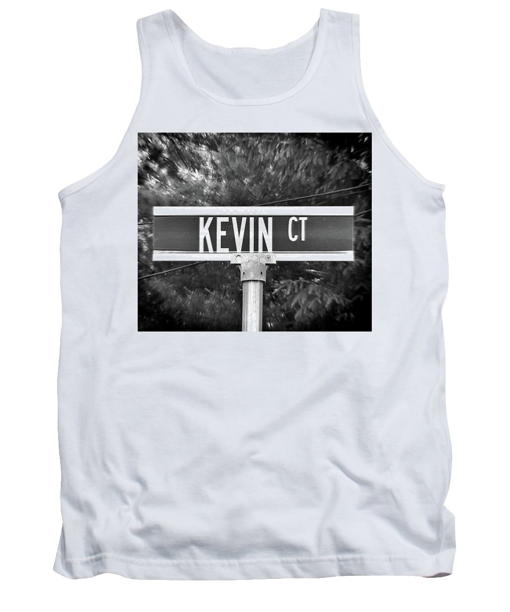 Kevin Tank Top featuring the photograph Ke - A Street Sign Named Kevin by Jenifer West