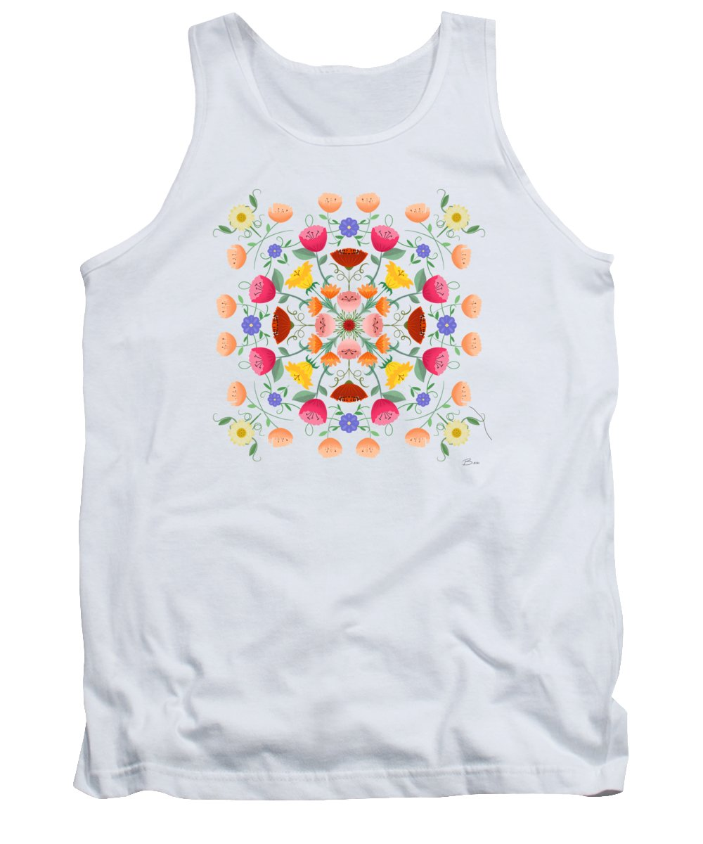 Painting Tank Top featuring the painting A Symphony Of Dancing Floral Delights by Little Bunny Sunshine