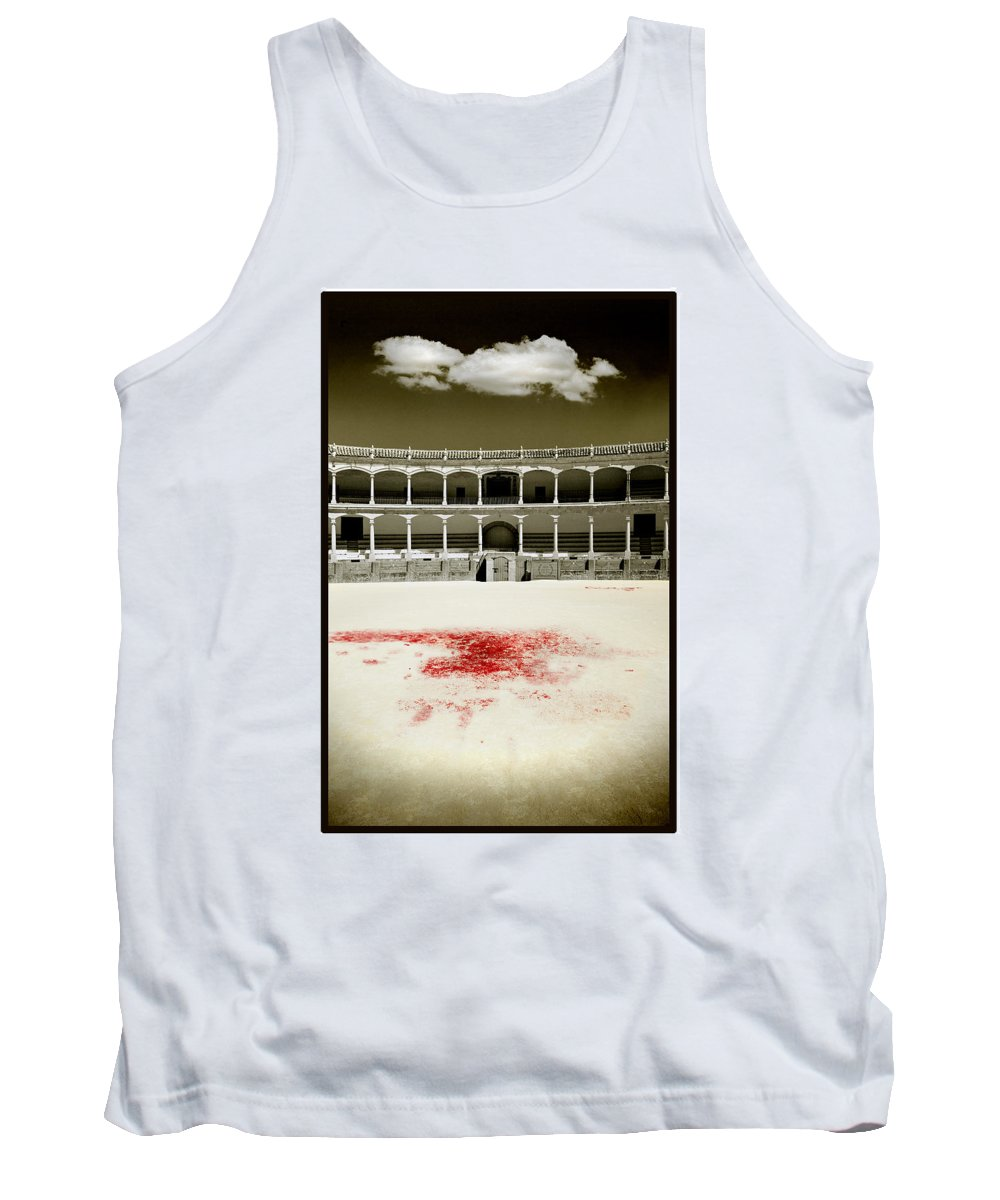 Bullfight Tank Top featuring the photograph A Tradition Of Tragedy by Mal Bray
